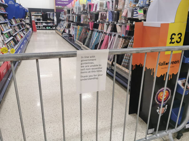 The move to restrict the sale of non-essential items in supermarkets receive widespread critcism