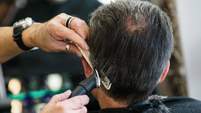 Barbers and hairdressers can reopen from 12 April should all coronavirus tests continue to pass
