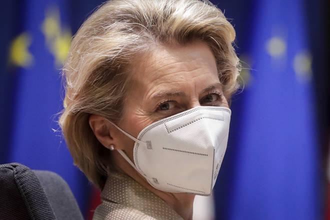 EU Commission president Ursula von der Leyen has been critical of AstraZeneca's vaccine rollout. (PA)