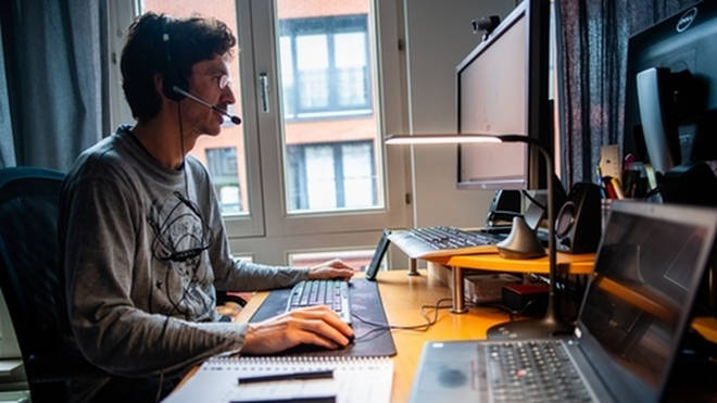 Almost one third of people wore pyjamas during virtual meetings in the past year