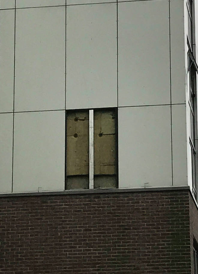 Cladding Panel Removed