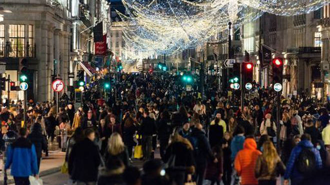 Christmas shoppers packed the streets in the lead up to Christmas