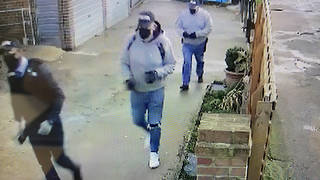 """CCTV of three men who posed as police officers and stole £20,000 during a """"violent burglary"""" in south London has been released"""