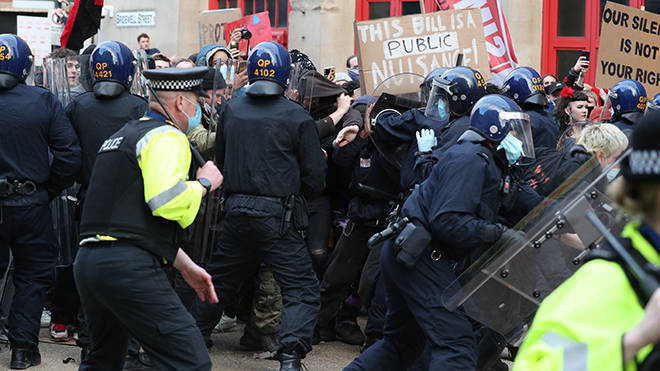 Bristol protests have lead to multiple arrests and injuries over two days