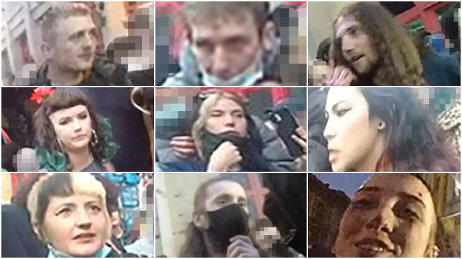 Police have released the pictures of these people they wish to speak to