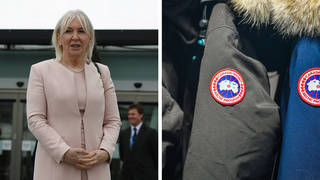 A copy of Health Minister Nadine Dorries' card was used to try and buy a Canada Goose designer jacket. File phoeo.