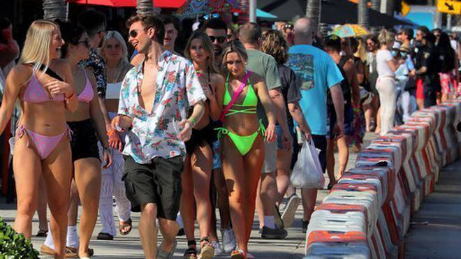 US health official have expressed concerns over spring break parties in Florida