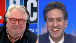 Nick Ferrari went about the interview in a different manner