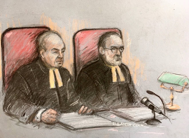 Lord Justice Dingemans(left) and Lord Justice Underhill dismissed Johnny Depp's appeal