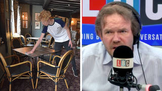 James O'Brien responds to caller who asks why supermarkets are open but not pubs