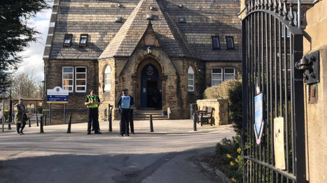 """Batley Grammar School in West Yorkshire has been criticised for showing an """"inappropriate"""" cartoon of the Prophet Muhammad"""