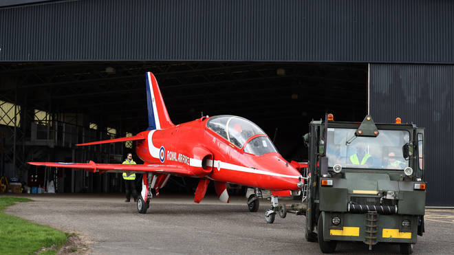The Red Arrows are among all Hawk T1 jets have been grounded after a Royal Navy plane crashed in Cornwall