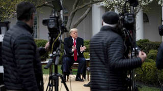 Trump Participates in a Fox News Virtual Town Hall