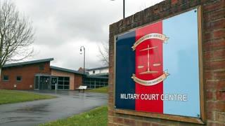 Military Court Centre, Bulford Barracks in Salisbury, Wiltshire.