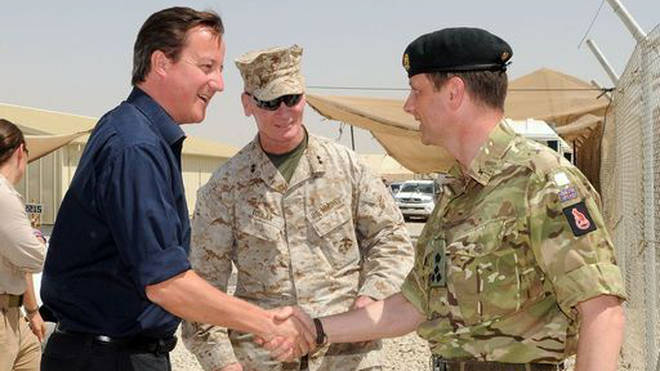 Nick Welch with the then Prime Minister David Cameron.