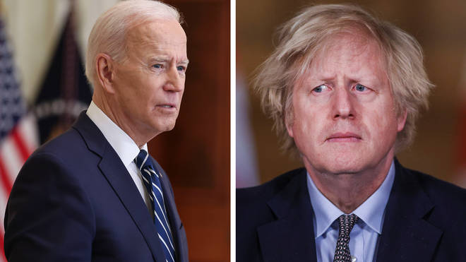 Joe Biden has said that he told Boris Johnson in a phone call that they should work towards a big infrastructure plan to rival China's Belt and Road Initiative