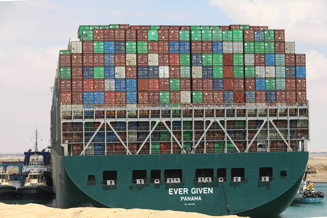 The Ever Given ran aground on Tuesday in the narrow, man-made canal dividing continental Africa from the Sinai Peninsula