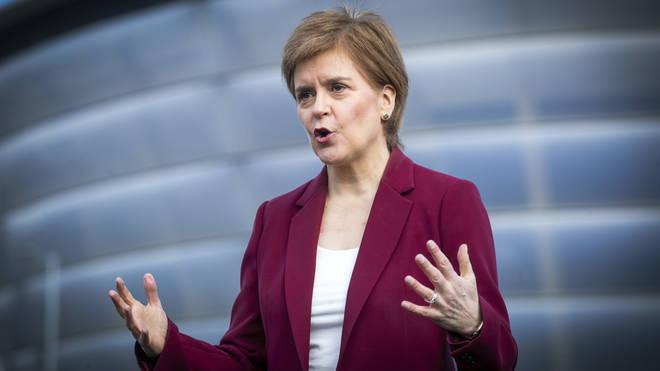 Nicola Sturgeon speaks on the campaign trail on Saturday