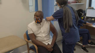 Watch: David Lammy receives his first dose of Covid-19 vaccine