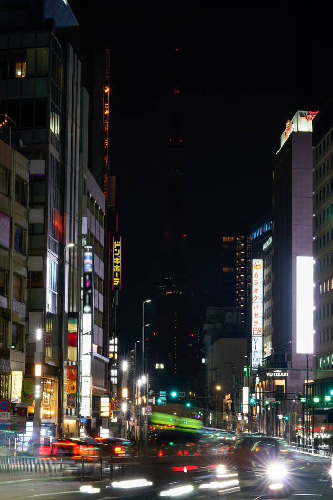 Tokyo Tower with its lights turned off
