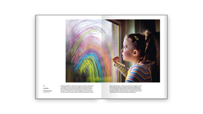 Helen Pugh's photo of her daughter painting a rainbow, 10 days into shielding, was one of those selected for the book.