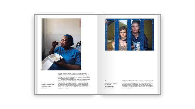 Hospital cleaners and children stuck inside are amongst poignant portraits that show Britain under lockdown.