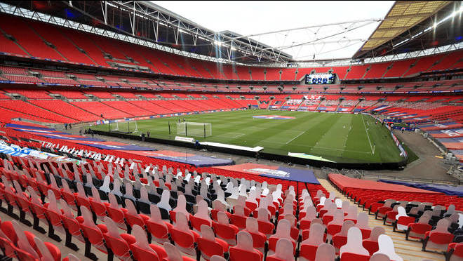 The FA Cup final at Wembley is the most high-profile event that will be used to rest the return of fans.