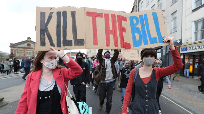 Kill the Bill protests have been seen in cities across the UK over the last week, with move expected over Easter.
