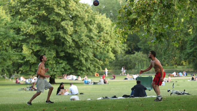 Restrictions have eased in England, allowing the return of social gatherings and group sport.