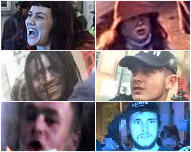 Police have released pictures of people they want to speak to