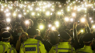 The police were criticised after breaking up Sarah Everard's vigil.