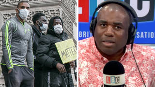 David Lammy caller: Racism is a 'greater risk' for black people than Covid