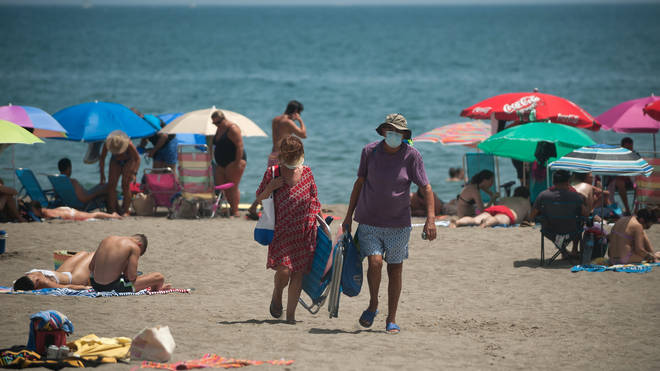 Masks will be mandatory on beaches in Spain this summer