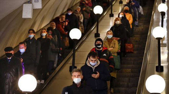 People wearing face masks to protect against coronavirus