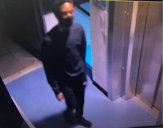CCTV footage shows he was wearing all-black
