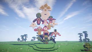Jupiter Artland recreated in Minecraft