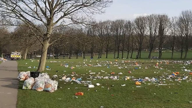 Officers dispersed 200 people from Woodhouse Moor, and a clean up operation got under way today.