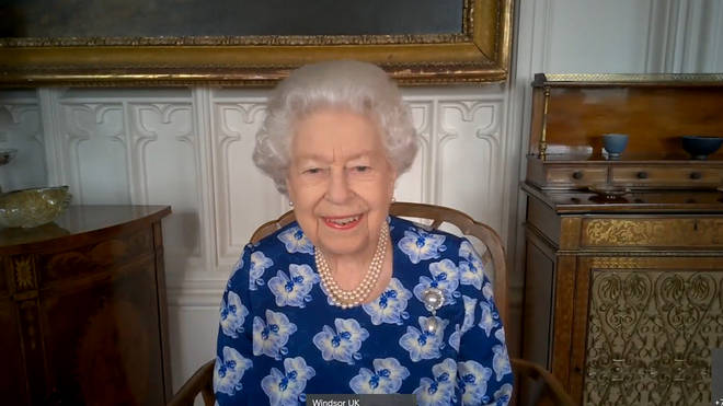 The Queen has carried out virtual royal engagements, including thanking NHS volunteers for their work during the pandemic.