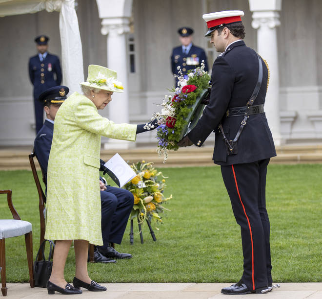A wreath was laid on behalf of the Queen during the service.