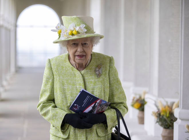 The royal engagement was the first time the Queen has been seen outside Windsor Castle in 5 months.