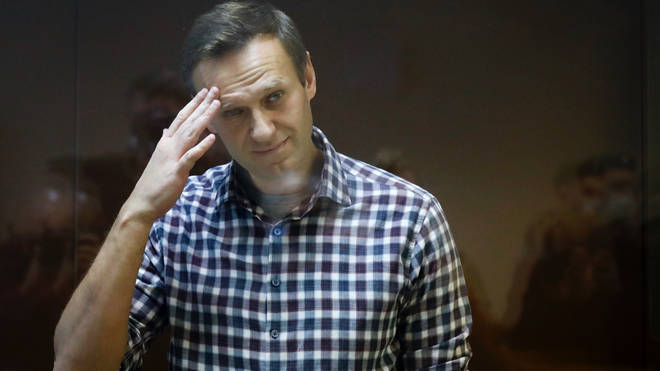 Alexei Navalny was jailed earlier this year