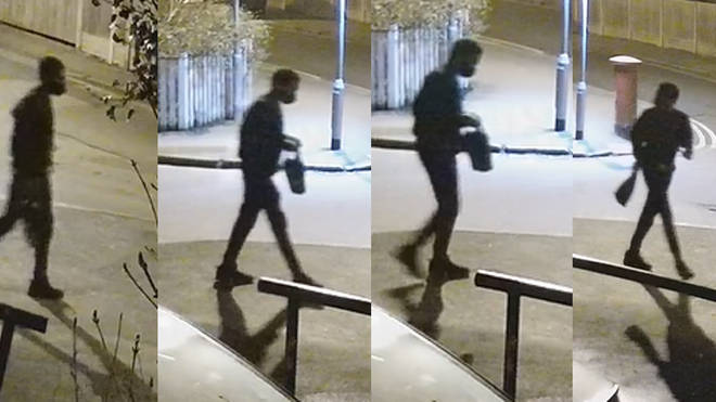 CCTV shows Mr Okorogheye in Loughton in the early hours of last Tuesday