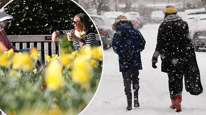 Snow forecast: Chilly temperatures to replace March's heatwave on Easter Monday