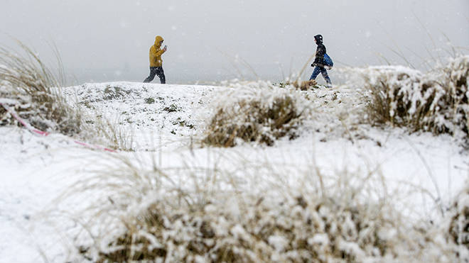 Snow this Monday: The Met office has warned of snowy showers