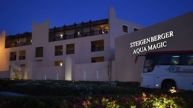 The family were staying at the Steigenberger Aqua Magic hotel in Egypt