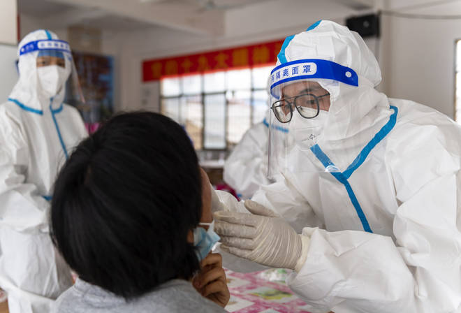 A Chinese border city hit by a fresh outbreak of Covid-19 has started a five-day drive to vaccinate its entire population of 300,000 people