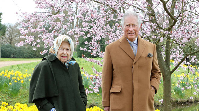 The monarch and Charles appeared in good spirits during their Windsor walk
