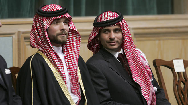 Prince Hamza bin Al-Hussein (R) said the house arrest was being enforced by the country's military chief
