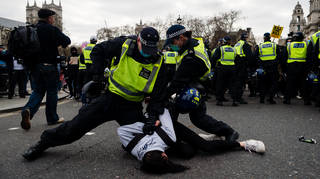 Scores of people were arrested on Saturday during 'Kill the Bill' protests in the capital