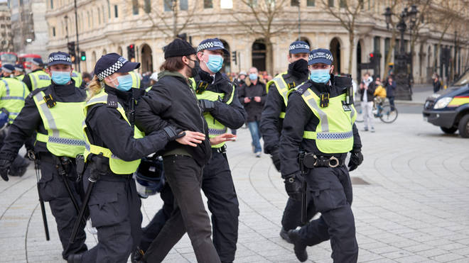 Kill the Bill protesters clashed with the police across forces across England on Saturday